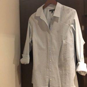 Seersucker button up shirt